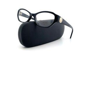 New COACH Frames Black Acetate HC6009 Cat Eye